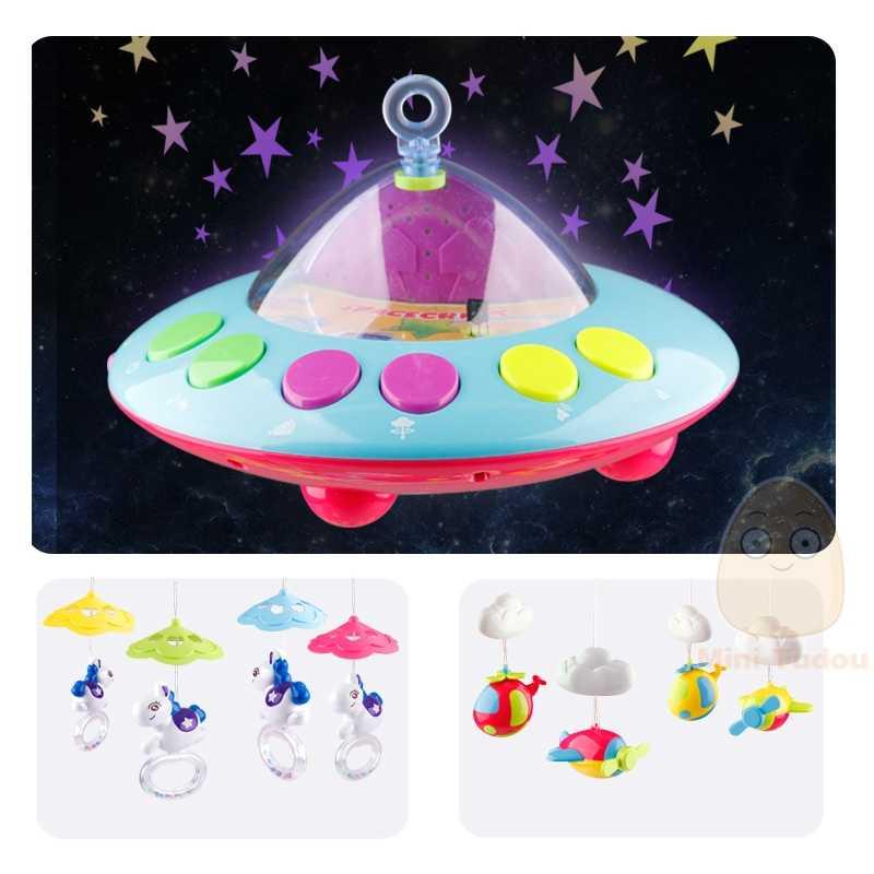 MiniTudou детские игрушки 0-12 месяцев погремушки игрушки для новорожденных мобиль в кроватку игрушки развивающие