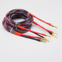 Oxygen Free Copper Speaker Cable Home Theater Amplifiler Subwoofer Banana plug Audio Cable Hifi OFC Wire Braided 2M 2.5M 3M