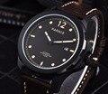 Мужские наручные часы Parnis 47 мм  механические Военные часы  мужские автоматические наручные часы с сапфиром  Автоматическая Дата  коричневые...