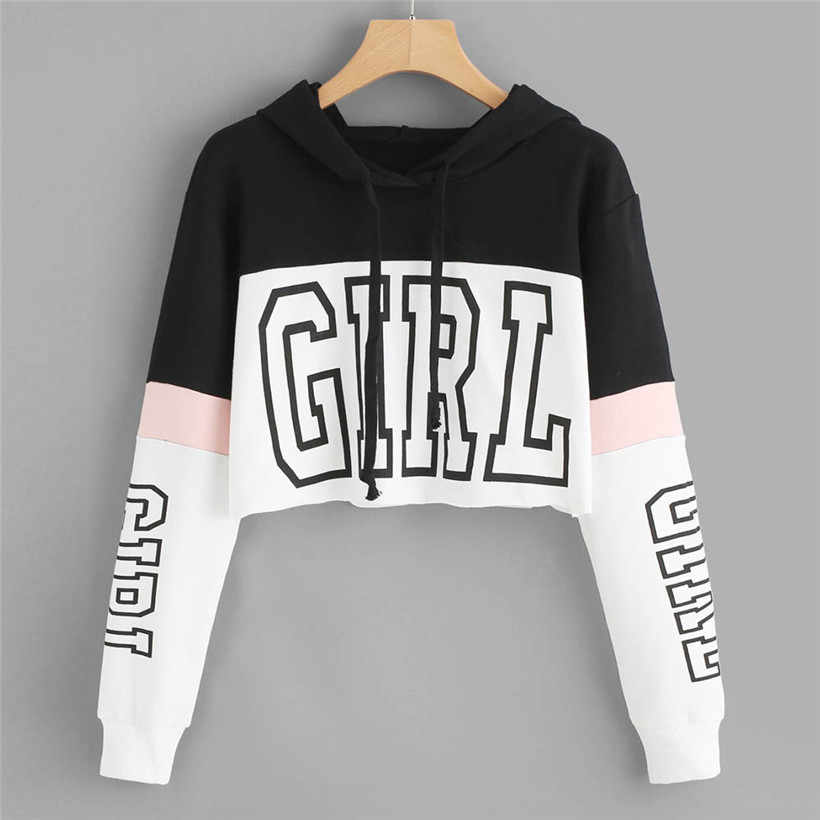 Hoodies Women Sweatshirts 2019 Casual Print Hoody Shirt Long Sleeve  Jumper Hooded Pullover Tops For Female  0912