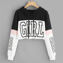Sudaderas con capucha para mujer 2019 camiseta Casual con capucha de manga larga jersey con capucha para mujer 0912