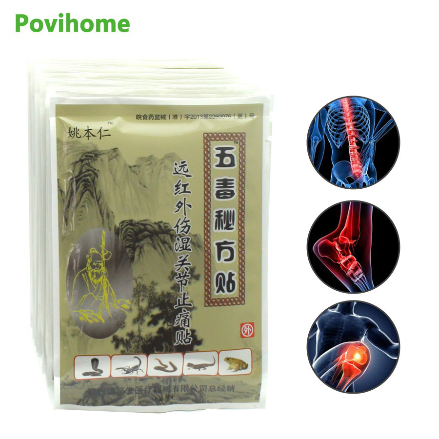 8Pcs Capsicum Sticker Chinese Herbs Medical Plaster Arthritis Pain Relief Patches Joint Body Back Pain Killer C504