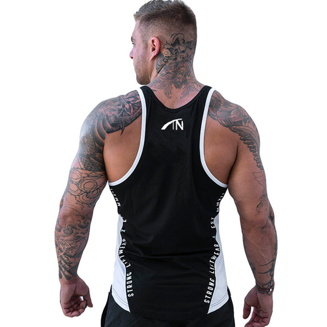 Men Bodybuilding Tank Tops Gyms Workout Fitness Cotton Sleeveless shirt Joggers Clothes Stringer Singlet Male Summer Casual Vest 29
