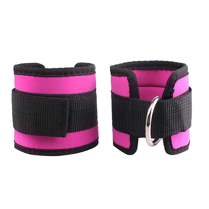 2pcs Sport Ankle Straps D-Ring Ankle Calfs Band For Gym Workouts Machines Leg Exercises image