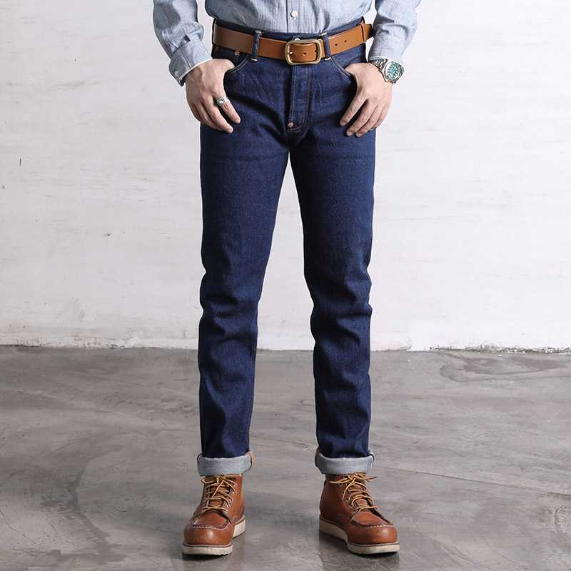 SD-107B Read Description! 12.5oz Weight Raw Indigo Selvage Washed Denim Pants Sanforized Raw Denim Jean 12.5oz