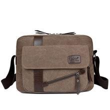 2017 new mens fashion business travel canvas shoulder bag Messenger briefcase free shipping