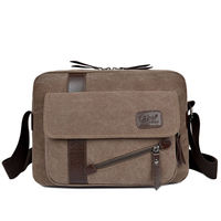 2017 New Men S Fashion Business Travel Canvas Shoulder Bag Men S Messenger Bag Canvas Bag