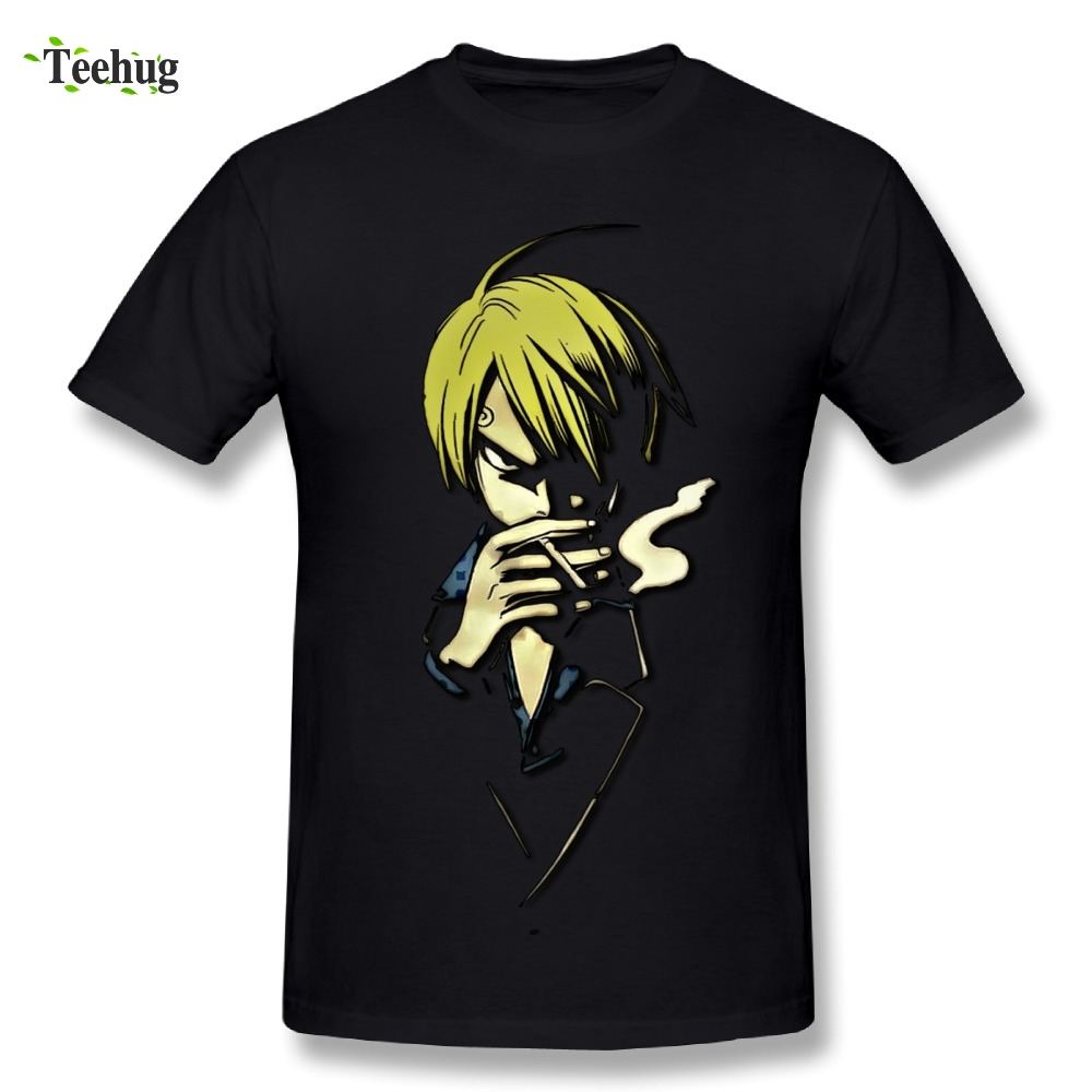 Casual Men's Sanji One Piece T Shirt Big Size For Man Fashion T-shirt
