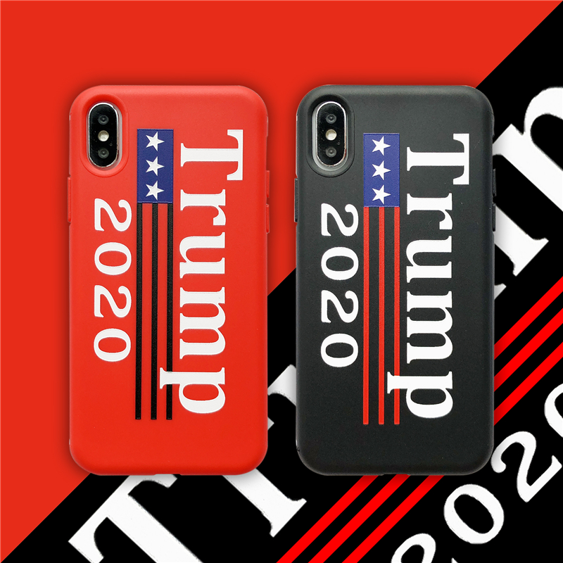 President Trump Soft Phone Cover Case For Iphone X Xs Max Xr 8 7 6 6s Plus Silicon Cases 3d Super Relief Fashion Couple Coque