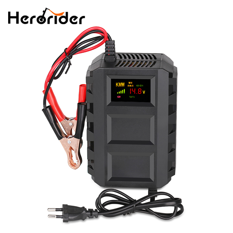 110v-240v Intelligent 12v 10a Automobile Car Motorcycle Smart Sealed Lead Acid Battery Charger Led Digital Display Eu/us/uk/au