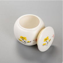 hot sale mini porcelain tea cans suitable for puer, tieguanyin and black tea,sealed jar beautiful tea tins t313(China)