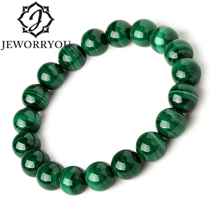 6-10mm Pulsera Malachite Bracelet Women Jewelry Natural Stone Stretch Couple Bracelet For Men Malachite Beads Bracelets 2017 6 8mm colorful morganite bracelets round natural stone bracelets morganite beads bracelet for women gift women jewelry