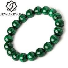 6-10mm Pulsera Malachite Bracelet Women Jewelry Natural Stone Stretch Couple For Men Beads Bracelets 2019