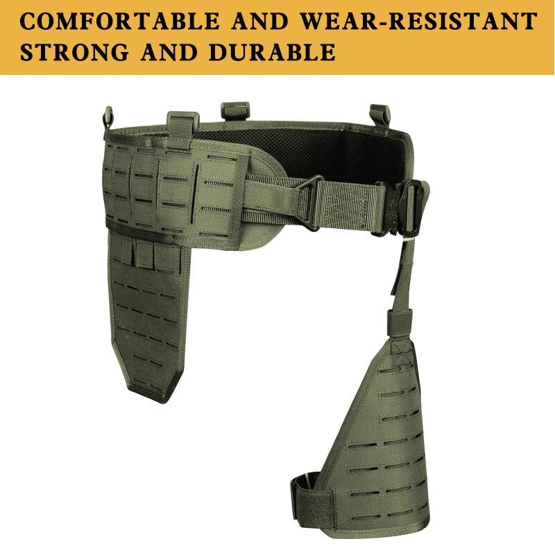 Ceinture militaire d'armée avec la plate-forme d'holster de jambe Sport en plein air Molle ceinture rembourrée tactique réglable de taille