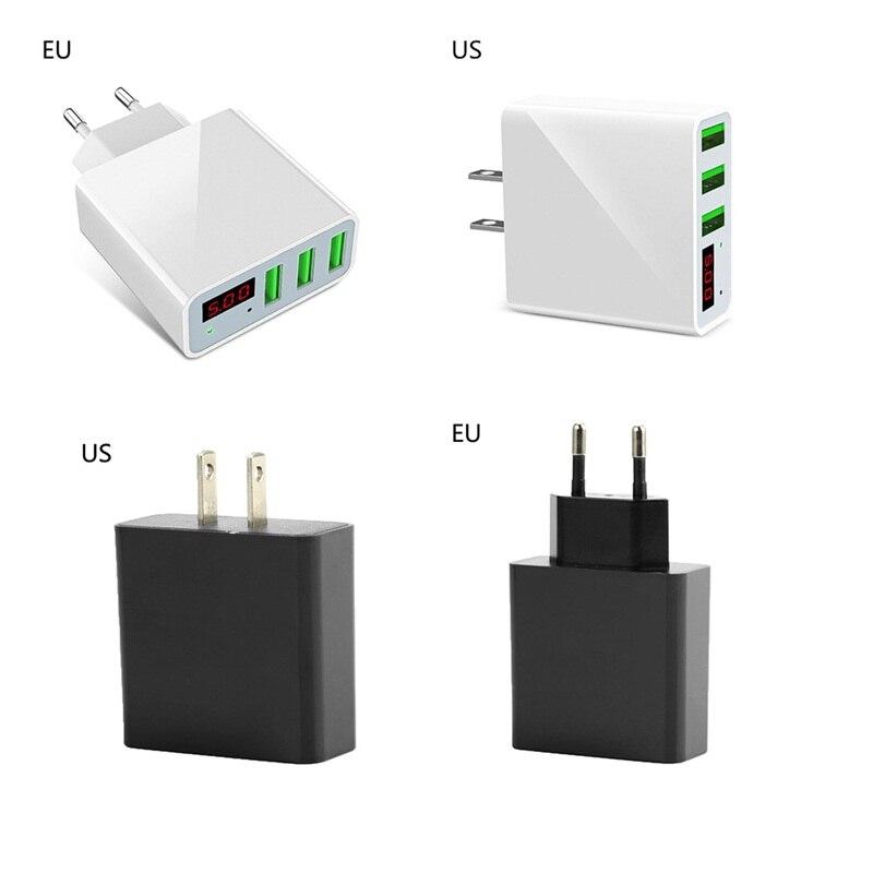 LED Display 3 USB Charger Universal Mobile Phone USBFast Charging Max 2.4A Universal Mobile Phone USB Charger