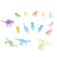 10Pcs Night Light Noctilucent Dinosaur Figure Toy Gift For Children Toys(China)