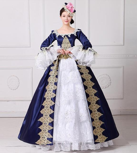 4384f90cedab New Arrival Women Vintage Royal Court Queen Elegant Dress European Style  Halloween Make Up Party Cosplay Costume