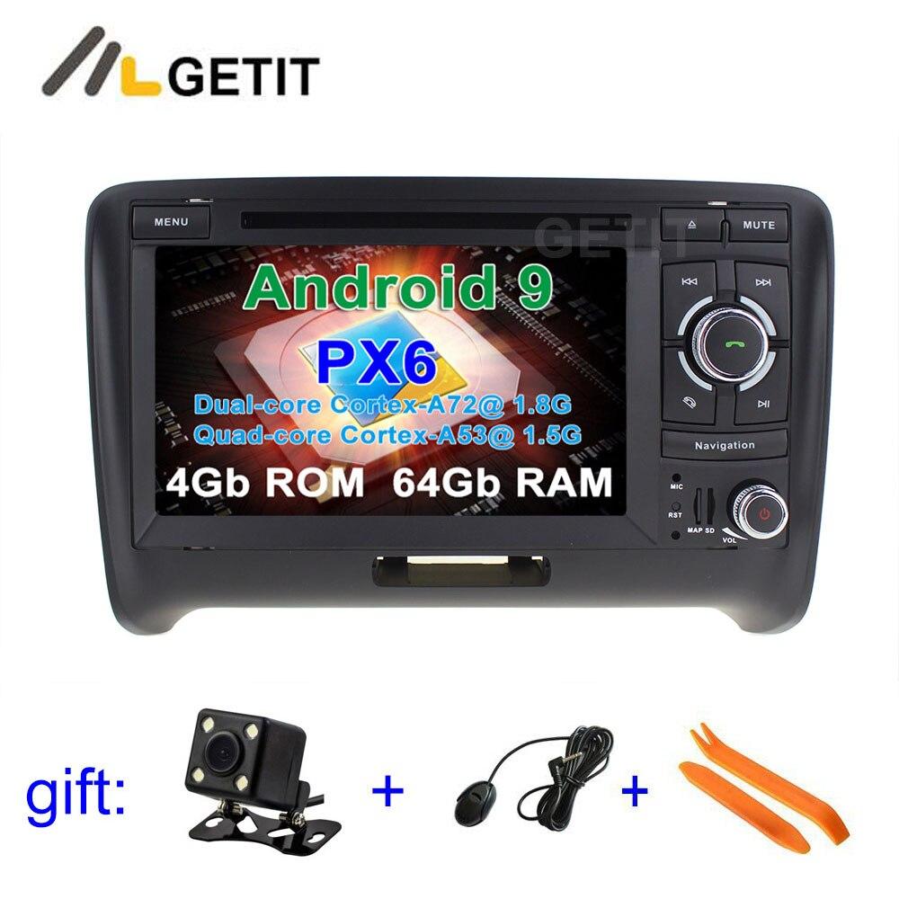 Lecteur de Radio stéréo vidéo DVD de voiture PX6 Android 9 Navigation GPS pour AUDI TT MK2 (2006-2014)