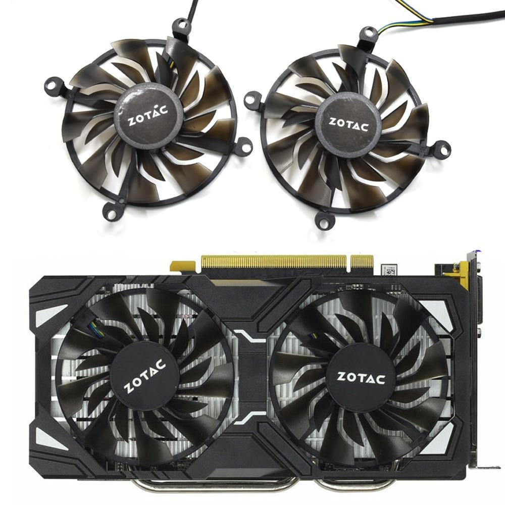 85mm 4Pin Cooling Fan Sleeve Bearing For Zotac GTX1060 HA GeForce GTX 1060 6GD5 GTX960 4GD5 Video Graphics Card Cooler Fans