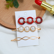 2019 Season New Imitation Pearls Acrylic 3PC/Set Resin Hairpins Hair Barrettes For Women Jewelry Styling Tools Hair Accessories 3pc acrylic drum shells 22x18 14x6 12x7inch