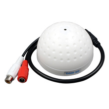 Cameye Audio pick up Mini Dome CCTV Microphone for camera DVR 10pcs/lot