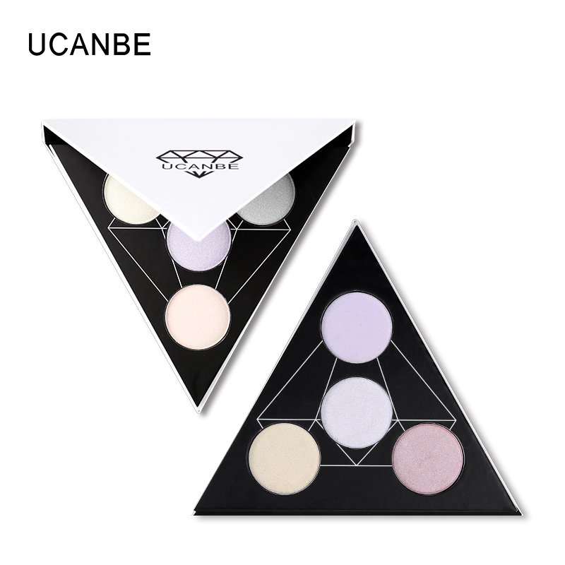 UCANBE Brand 2018 New 4 Color Polarized Highlighter Makeup Palette Aurora Glow Kit Brighten Long Lasting Highlighting Powder