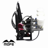 SPECIAL OFFER 0 7 Master Cylinders Universal Racing Car Hydraulic Pedal Box With Balance Dash Adjuster