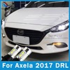 FULOWAY For Mazda Axela 2017 DRL LED Car Daytime Running Lights Light Lamp With Front Turn