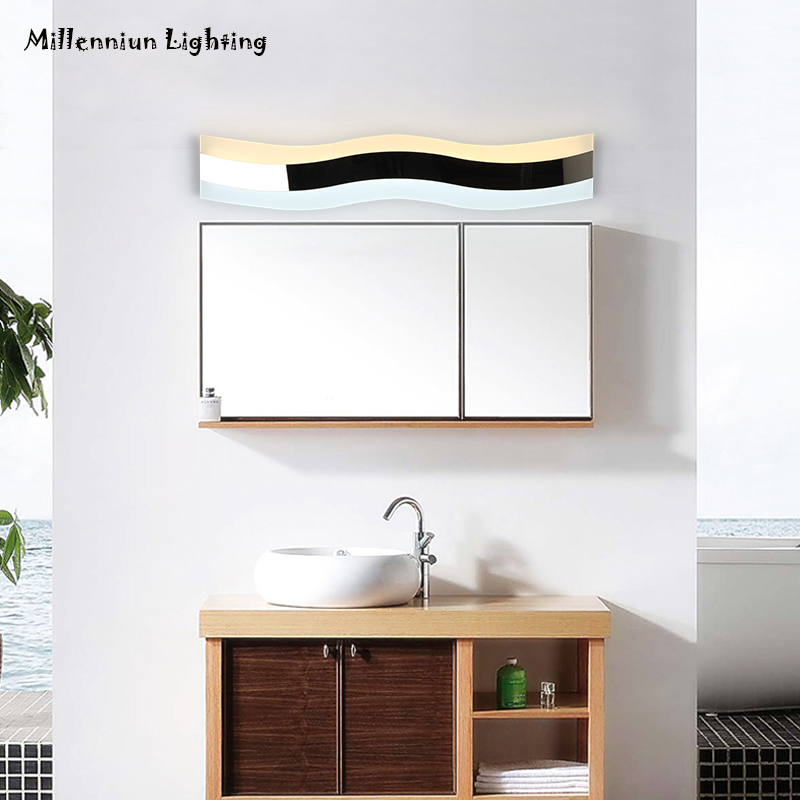 Wall lamp LED mirror front lamp waterproof anti-fog modern bathroom lights 40cm14W AC110-260V stainless steel makeup lights тюль сетка garden выс 290см цветочный рисунок с сиреневой каймой