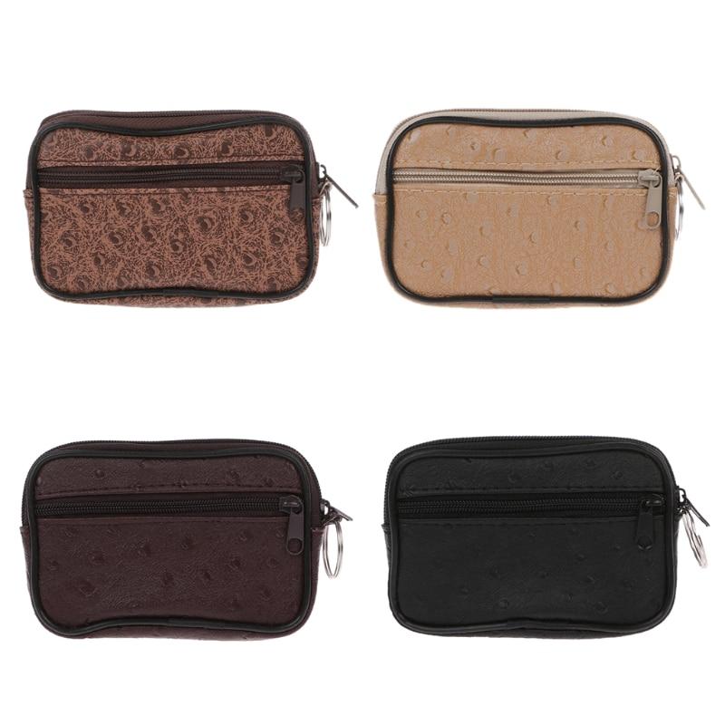 THINKTHENDO Soft Men Women Card Coin Key Holder Zip Change Pouch Wallet Pouch Bag Polyester Purse Gift стоимость