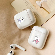 Case For Apple airpods case Cute Dinosaur Cat Lama Wireless Bluetooth Earphone Airpods Headphone Hard Protective