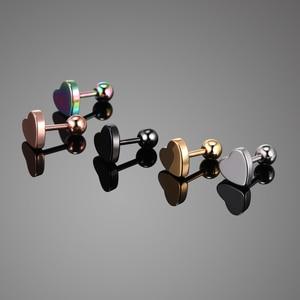 Серьги-гвоздики из стали для простого Пирсинга Ушей, украшение для козелка ушной раковины, хрящевая щетина ушной раковины, 18 г, 1 пара