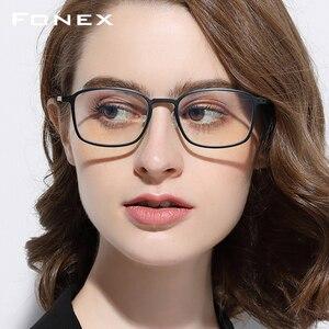Image 1 - FONEX haute qualité TR90 Anti lumière bleue lunettes hommes lecture lunettes Protection lunettes de jeu ordinateur lunettes pour femmes AB01
