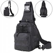 цена на Adjustable 600D Waterproof Military Tactical Bag Outdoor Sports Leisure Backpack Chest Bag Messenger Cycling Traveling Bag