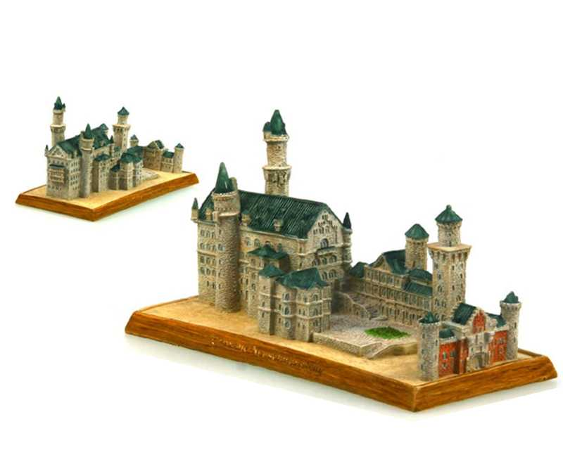 Germany Neuschwanstein Castle Creative Resin Crafts World Famous Landmark Model Tourism Souvenir Gifts Collection Home Decor