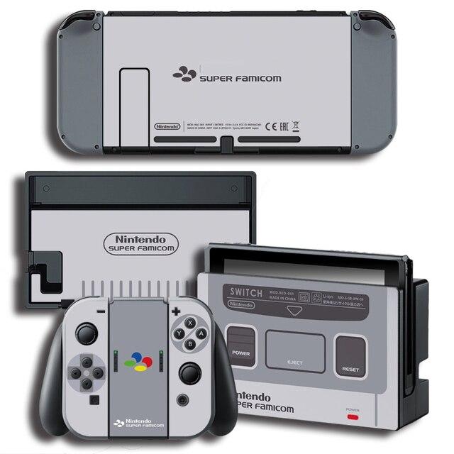 Защитная виниловая наклейка для консоли Nintendo Switch NS, защитная пленка для контроллера и держателя стойки серого цвета