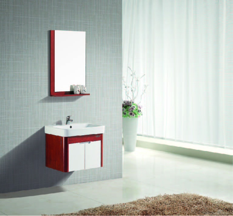 JOMOO Bathroom Vanities with mirror locker self-glazing basin towel rack PVC material Modern style bathroom cabinet for bathroom