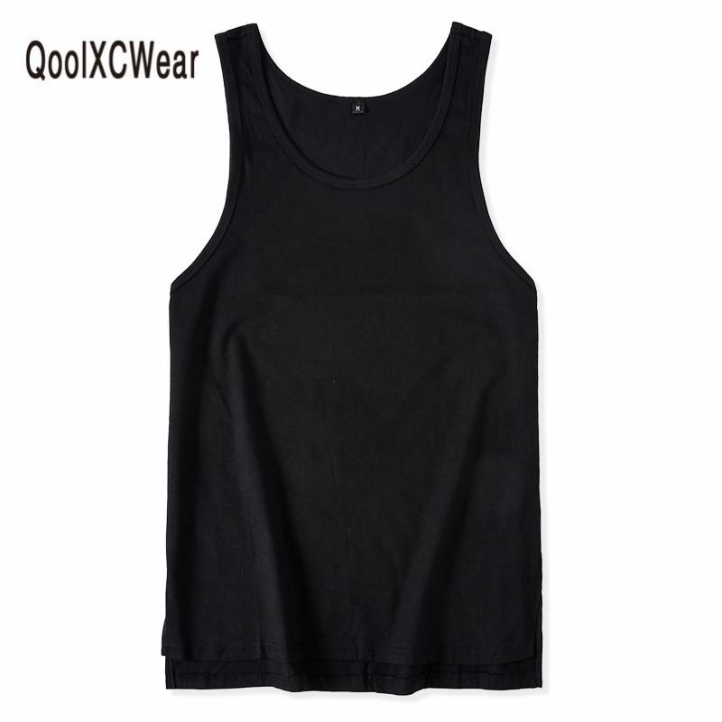 QoolXCWear vest   tank     top   Fashionable hip hop Original cotton vest men summer fashion casual over size