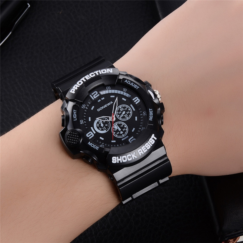 Top Brand Men Sports Watches Dual Display Analog Digital Led Electronic Quartz Wristwatches Waterproof Swimming Military Watch Choice Materials Watches