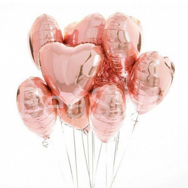 Rose Gold Balloons Foil Balloon Birthday Party Decorations Kids Orbs Figure Air Balloons Globes Happy Birthday Ballon