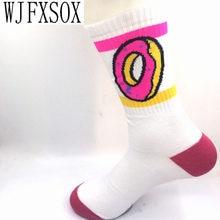32088d1d32ec WJFXSOX Unisex odd future donuts wool cotton Long Socks fashion Hiphop  Cotton Skateboard fixed gear Casual