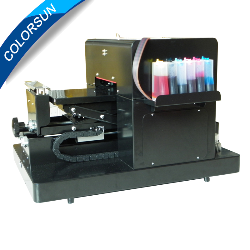 A4 Flatbed Printer T shirt Printer inkjet Flatbed Printer for CD /DVD Cards Phone case/T-shirt/Pen/Plastic inkjet id card printting machine automatic inkjet cd printer with 52 trays for id cards and cd