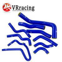 VR RACING 10PC Blue Silicone Radiator Hose Kit for Nissan Silvia 200SX 240SX S13 S14 S15 SR20DET VR LX1602C QY