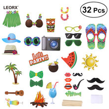 32pcs Toy hat for Luau Photo Kids Party Hawaiian Party Cap for Summer Beach Pool Luau Kids Party Decor DIY Kit Hat(China)