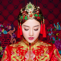 Chinese Ancient Bridal Hair Ornaments Jewelry Wedding Hair Styling Accessories Hairpins Coronet Tiara Handmade Bairwear Handmade