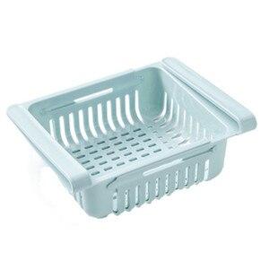 Image 5 - Экологичная многофункциональная кухонная стойка для хранения в холодильнике, держатель для холодильника, выдвижной ящик органайзер, экономия места