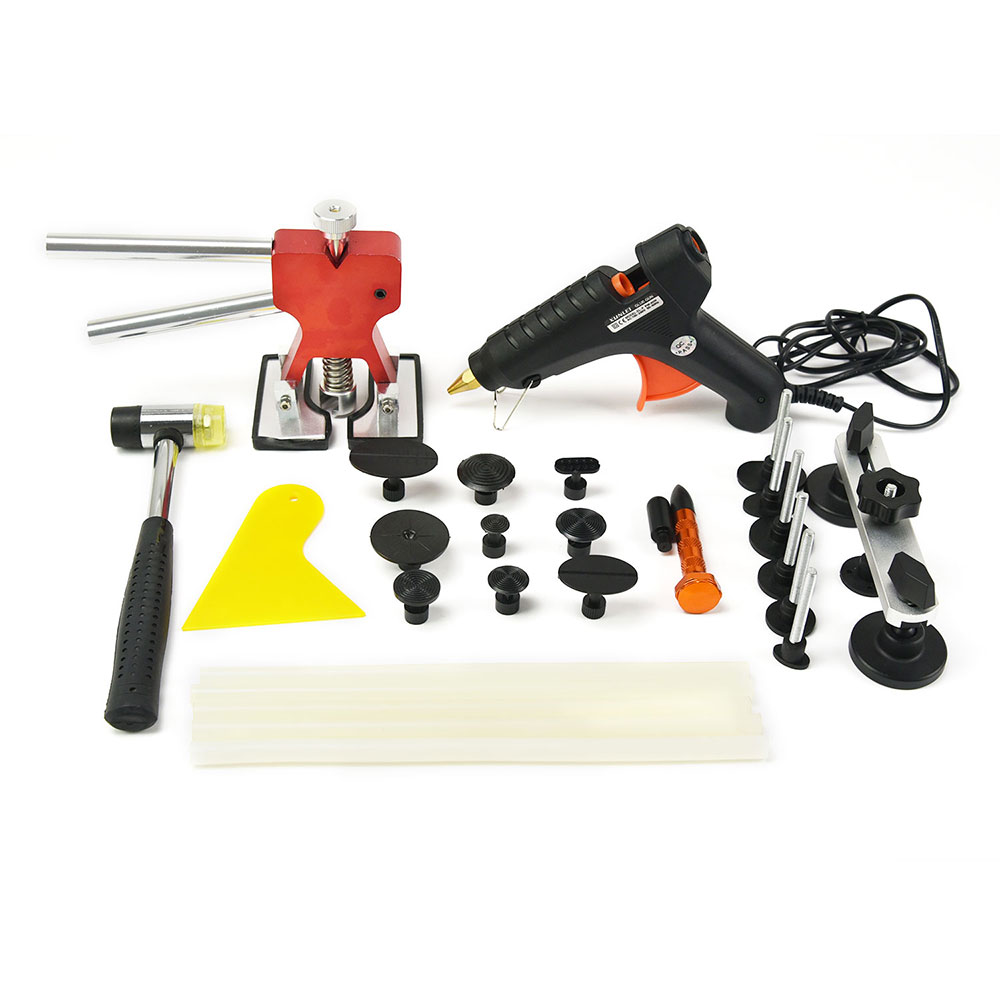 FURUIX Dent Repair Tools PDR Tools Paintless Car Hail Damage Repair Tool Hot Melt Glue Sticks Glue Gun Puller Tabs Kit Ferrament  pdr tools for car kit dent lifter glue tabs suction cup hot melt glue sticks paintless dent repair tools hand tools set