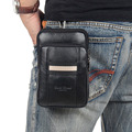 New Men's fashion Genuine Leather Cowhide Fanny Waist Bag Cell/Mobile Phone Case Coin Purse Cross Body Messenger Shoulder Pack