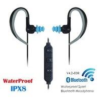 KUBITE IPX8 Waterproof Bluetooth Earphone Swimming Running Sports Earphones Bluetooth 4 2 USB 2 0 60mAh