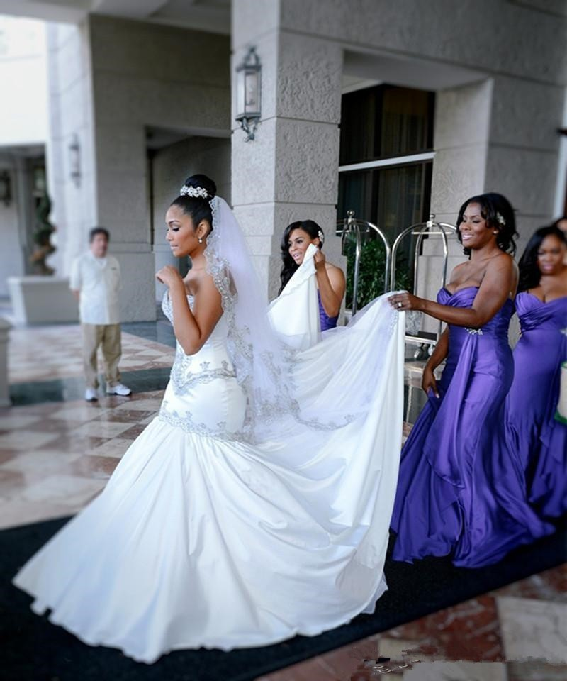 Romantic Sweetheart Mermaid Tail Wedding Dresses 2016 Embroidery ...